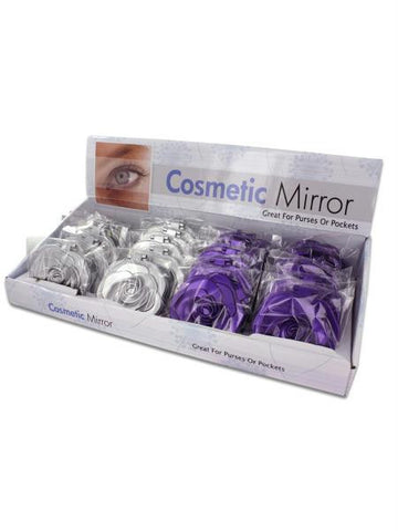 Rosette Design Cosmetic Mirror Countertop Display (Available in a pack of 24)