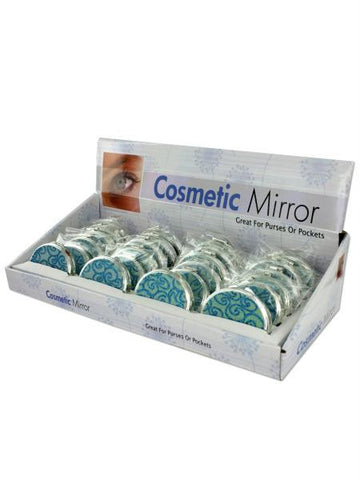 Glittering Compact Mirror Countertop Display (Available in a pack of 24)