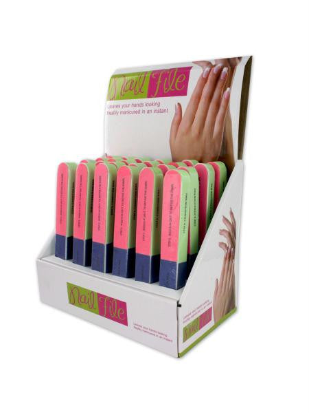 7-Way Nail File Countertop Display (Available in a pack of 24)
