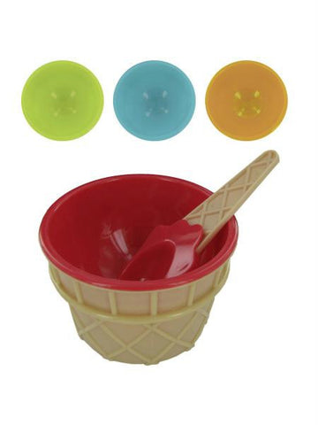 Ice Cream Bowl & Matching Spoon Set (Available in a pack of 24)