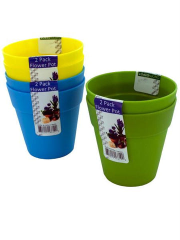 Plastic Flower Pots (Available in a pack of 24)