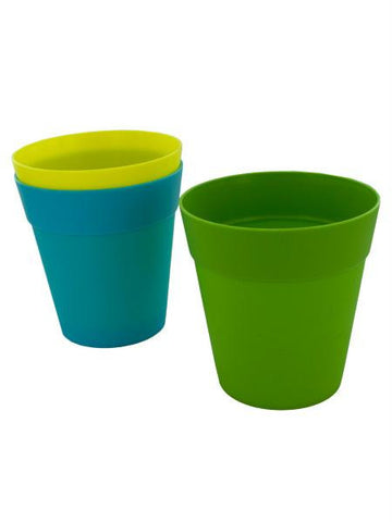 Colorful Plastic Flower Pot (Available in a pack of 24)
