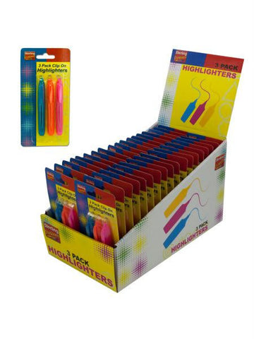 Clip On Highlighters Countertop Display (Available in a pack of 36)