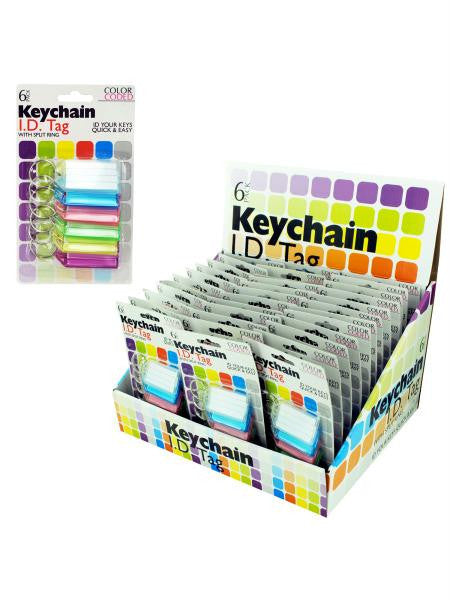 Color Coded Key Chain ID Tags Countertop Display (Available in a pack of 36)