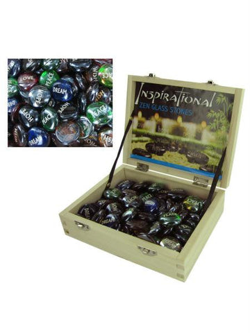 Inspirational Zen Glass Stones Counter Top Display (Available in a pack of 72)