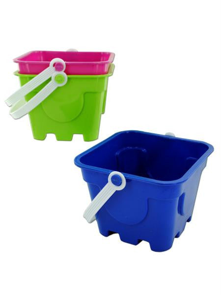 Square Mold Beach Pail (Available in a pack of 12)