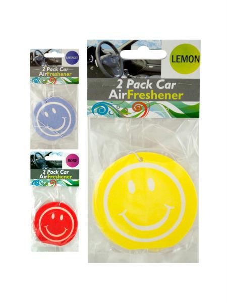 Smiley Face Car Air Freshener (Available in a pack of 12)