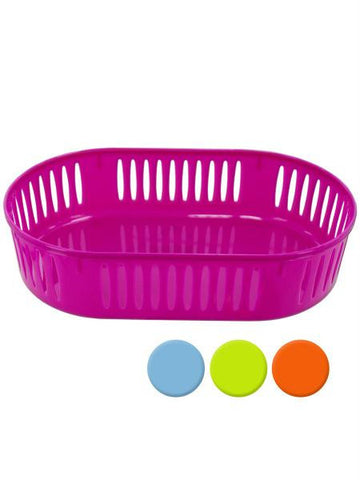 Plastic Oval Storage Basket (Available in a pack of 12)