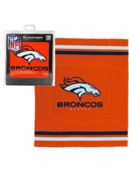 Denver Broncos Microfiber Eyeglass Cleaning Cloth (Available in a pack of 24)