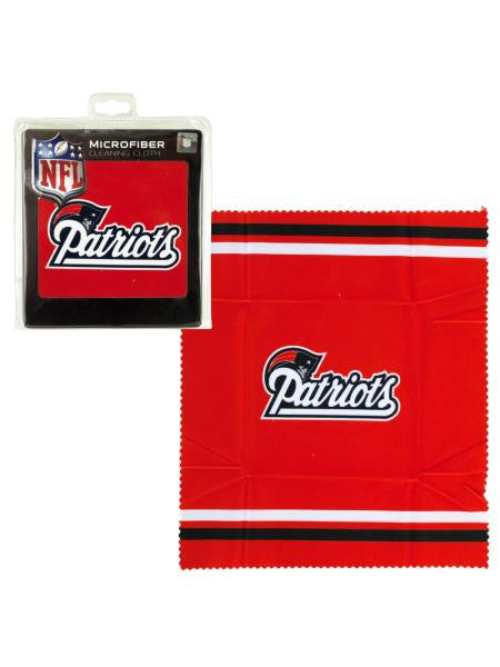 New England Patriots Microfiber Eyeglass Cloth (Available in a pack of 24)