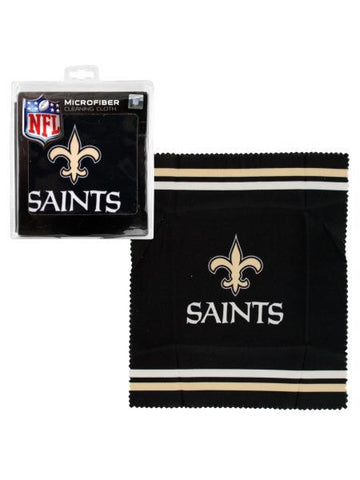 New Orleans Saints Microfiber Eyeglass Cleaning Cloth (Available in a pack of 24)