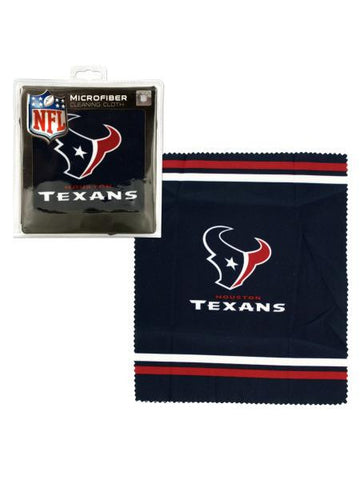 Houston Texans Microfiber Eyeglass Cleaning Cloth (Available in a pack of 24)