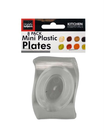 Clear Mini Plastic Plates Set (Available in a pack of 12)