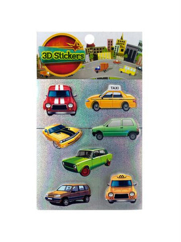 3D Car and Truck Stickers (Available in a pack of 24)