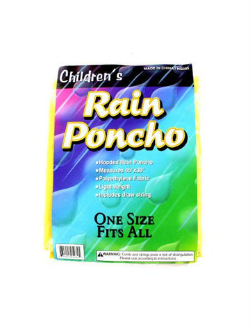 Children's Hooded Rain Poncho (Available in a pack of 24)