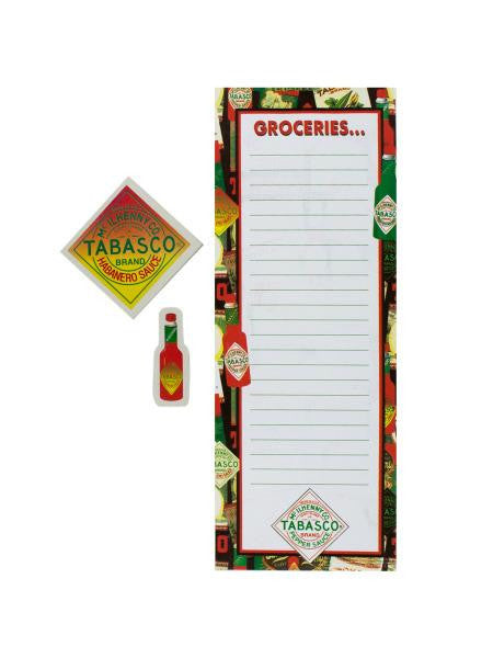 Magnetic Tabasco Memo Pad with Magnets (Available in a pack of 24)