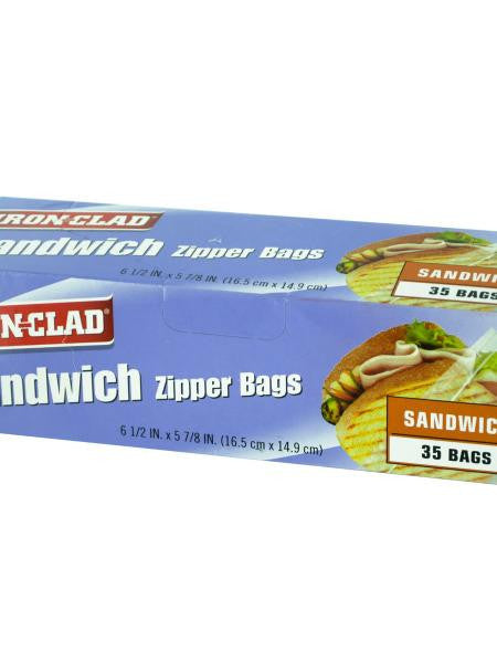 Sandwich Zipper Bags (Available in a pack of 24)