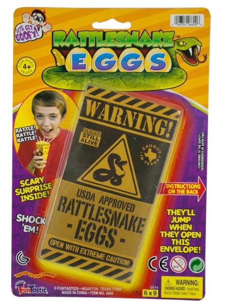 Rattlesnake Eggs Toy (Available in a pack of 24)