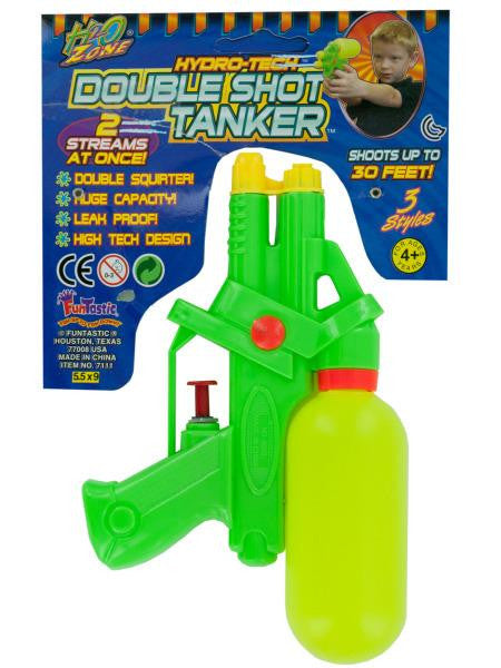 Hydro-Tech Double Shot Tanker Water Gun (Available in a pack of 24)