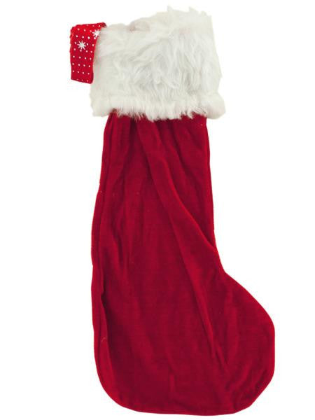 Christmas Stocking with Furry Cuff (Available in a pack of 24)