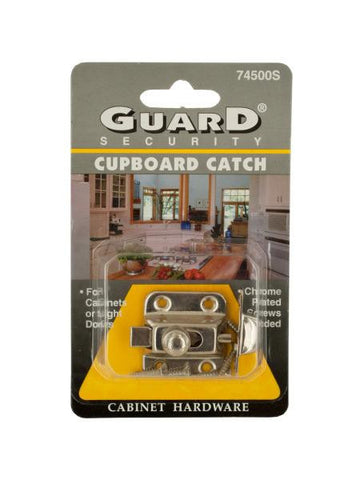 Chrome Plated Steel Cupboard Catch (Available in a pack of 24)