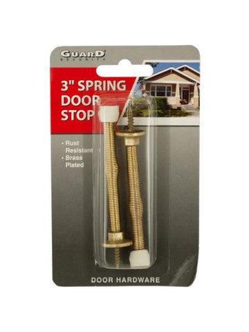 Brass-Plated Spring Door Stops (Available in a pack of 24)