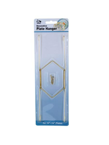 Large Brass-Plated Decorative Plate Hanger (Available in a pack of 24)