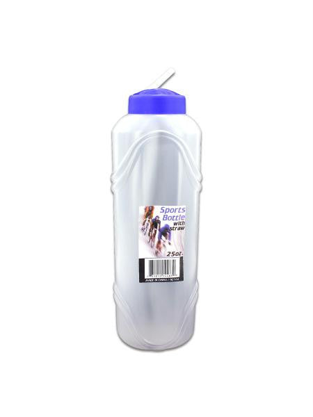 Sports Water Bottle with Straw (Available in a pack of 24)