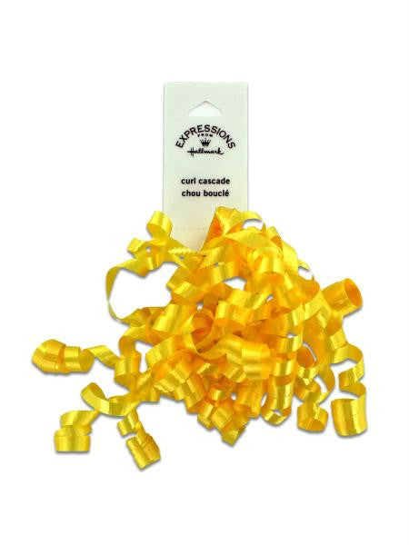 Yellow Mini Curl Gift Bow (Available in a pack of 36)