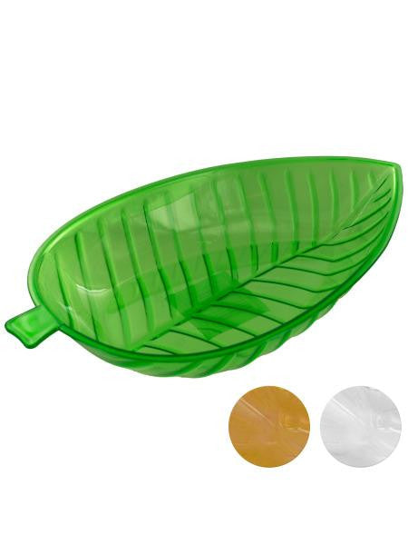 "12"" Oval Leaf Dish (Available in a pack of 12)"