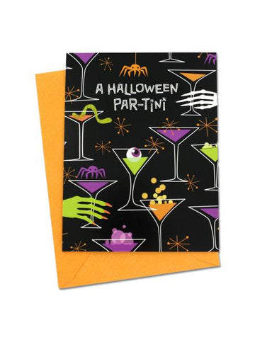 "Halloween ""Par-Tini"" invitations (Available in a pack of 24)"