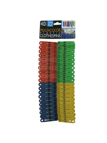 Multi-Colored Plastic Clothespins (Available in a pack of 24)