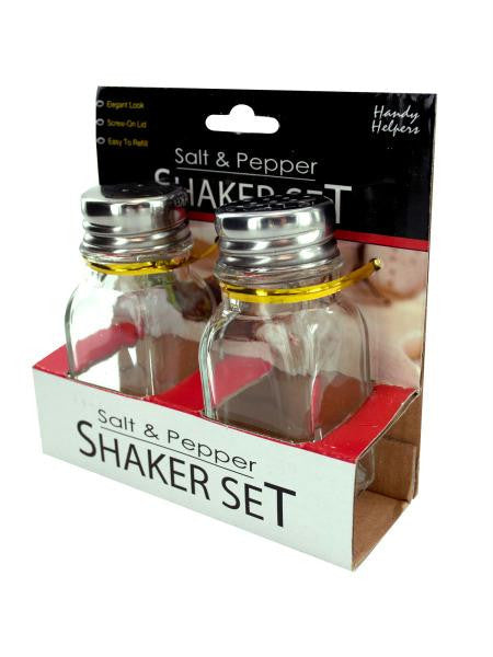 Squared Salt and Pepper Shaker Set (Available in a pack of 12)