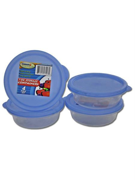 Round Plastic Storage Container Set (Available in a pack of 12)