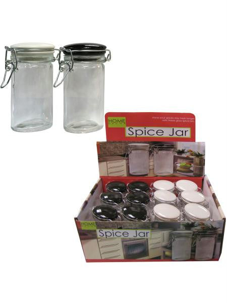 Oval Glass Locking Jar Countertop Display (Available in a pack of 24)