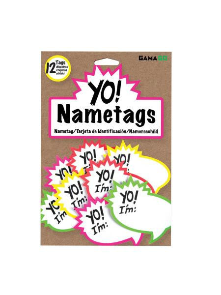 Yo! Nametags (Available in a pack of 24)