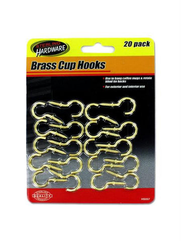 Brass Cup Hooks (Available in a pack of 12)