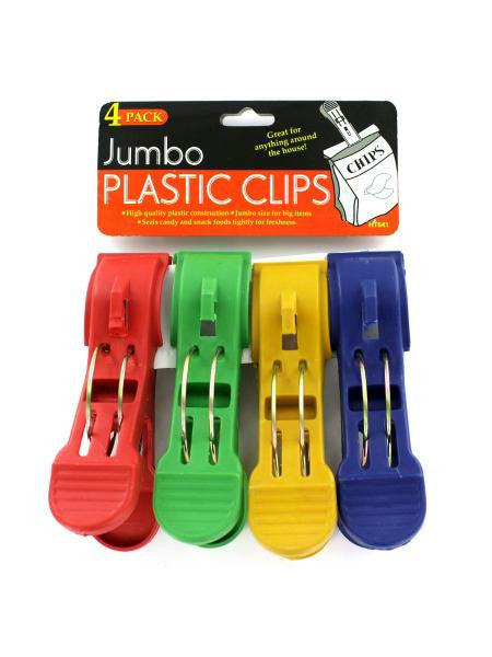 Jumbo Plastic Clips (Available in a pack of 24)