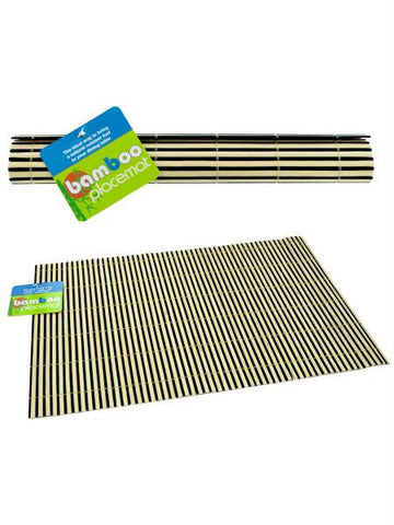 Striped Bamboo Placemat (Available in a pack of 24)