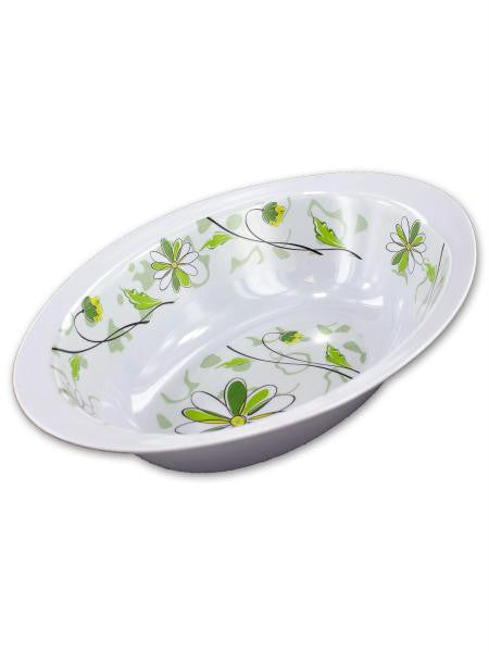 Oval Bowl with Spring Floral Design (Available in a pack of 12)