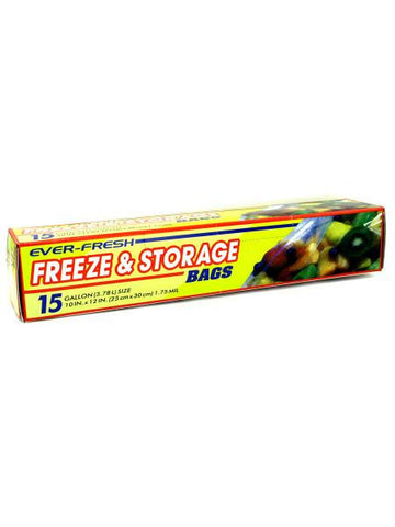 Gallon Size Freezer & Storage Zipper Bags (Available in a pack of 12)
