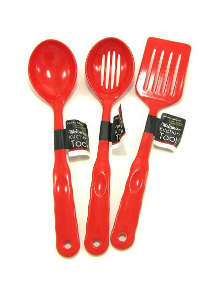 Red Melamine Kitchen Tools (Available in a pack of 12)