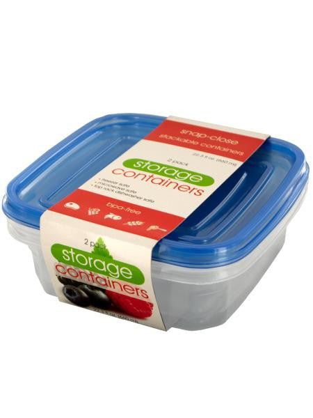 Square Food Storage Container Set (Available in a pack of 24)