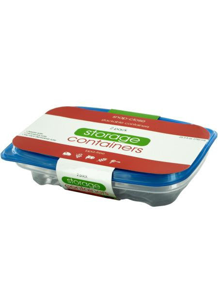 Rectangular Food Storage Container Set (Available in a pack of 12)