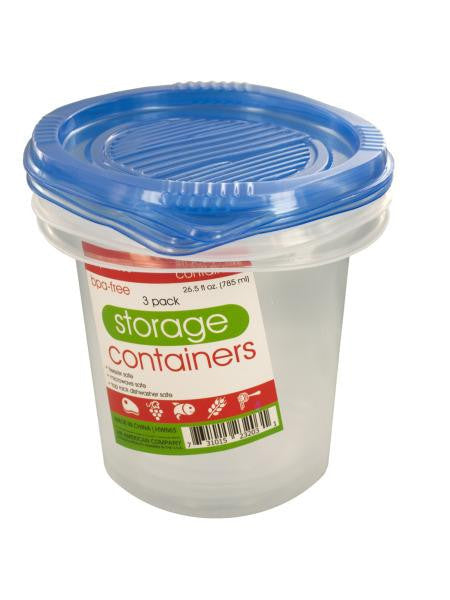 Round Food Storage Container Set (Available in a pack of 12)