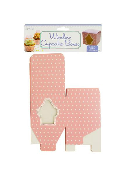 Window Cupcake Boxes (Available in a pack of 24)