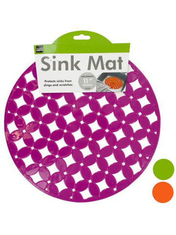 Decorative Round Sink Mat (Available in a pack of 12)