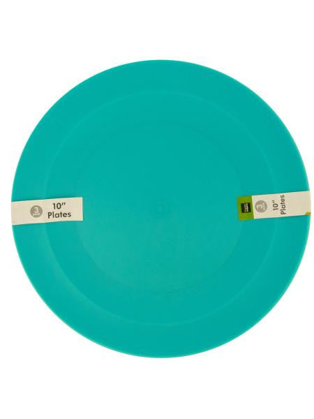 Round Plastic Plates (Available in a pack of 24)