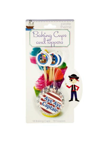 Kids Cupcake Baking Cups & Toppers Set (Available in a pack of 12)
