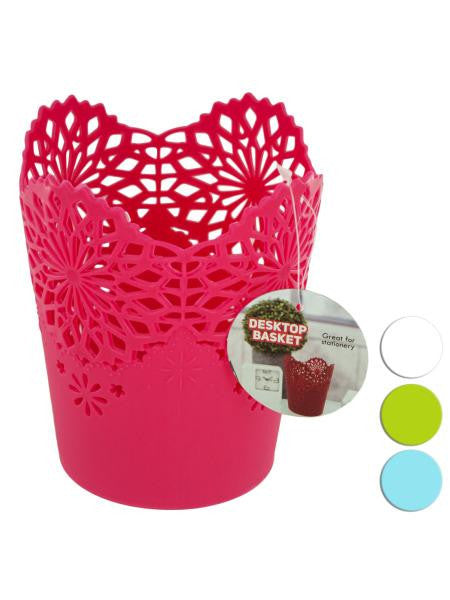 Decorative Desktop Basket (Available in a pack of 24)